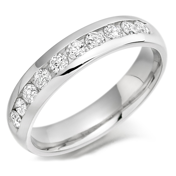 314 - Half eternity set with 50pt round diamonds.