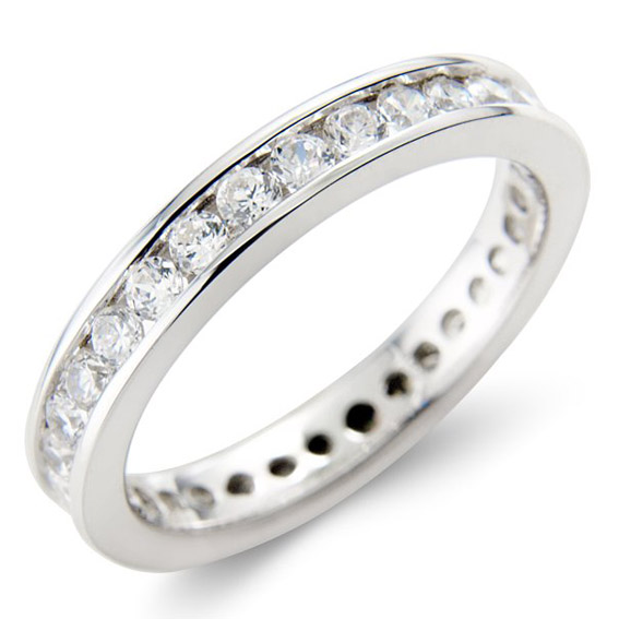 310 - Full eternity set with 1ct round diamonds.