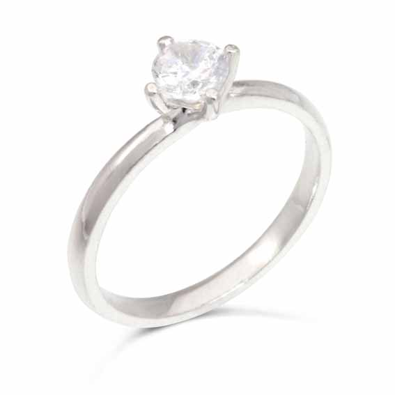 ER111 Solitaire diamond in a four claw setting