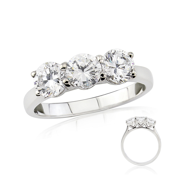ERRRT Three diamond set engagement ring