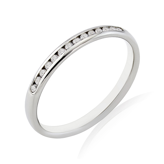 KM111 2.2mm third eternity ring with round channel set diamonds