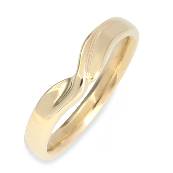 633 3mm ribbon shaped wedding ring