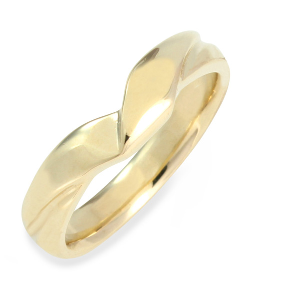 634 4mm ribbon shaped wedding ring
