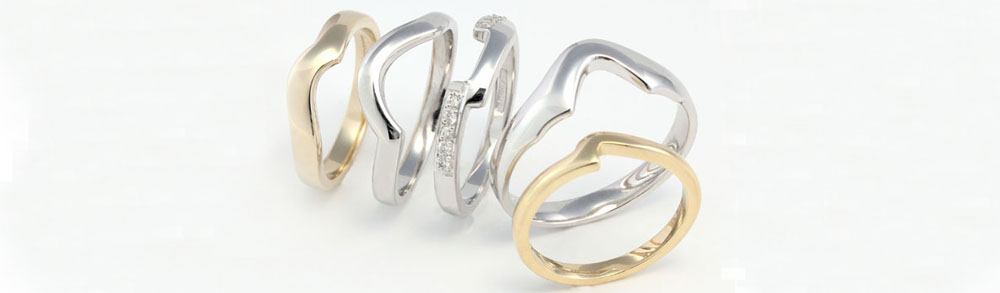 cooljoolz shaped wedding rings