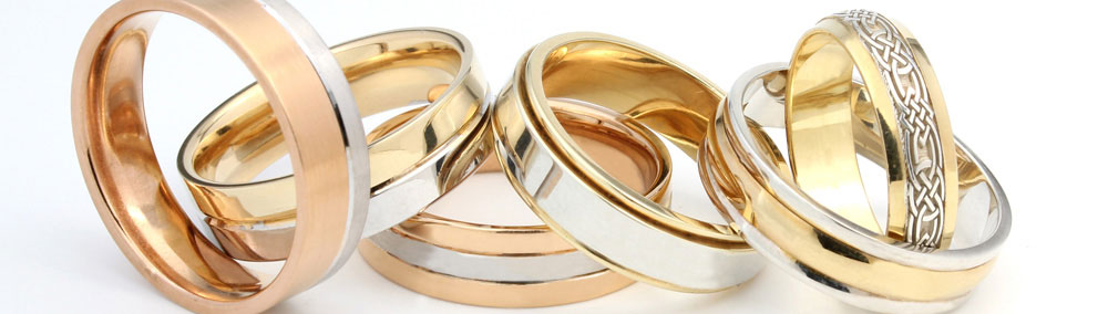 Cooljoolz  two tone wedding rings