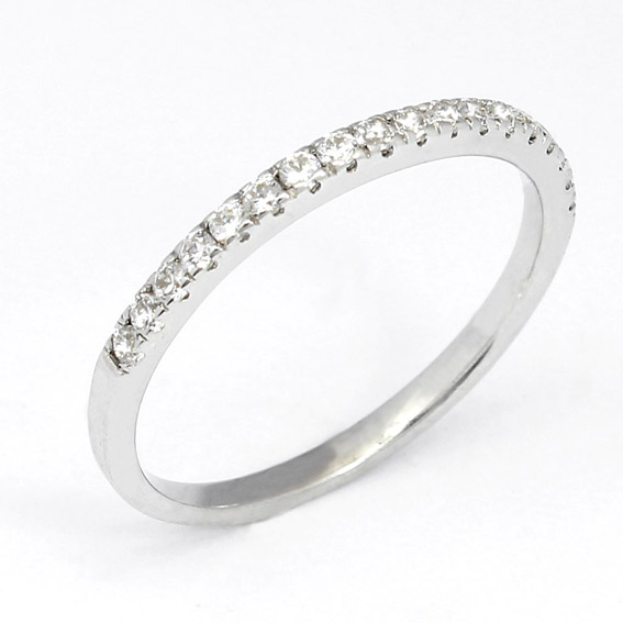 244 - narrow grain set diamond ring